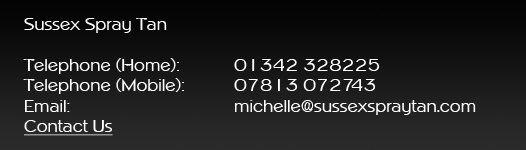 Sussex Spray Tan Contact Details